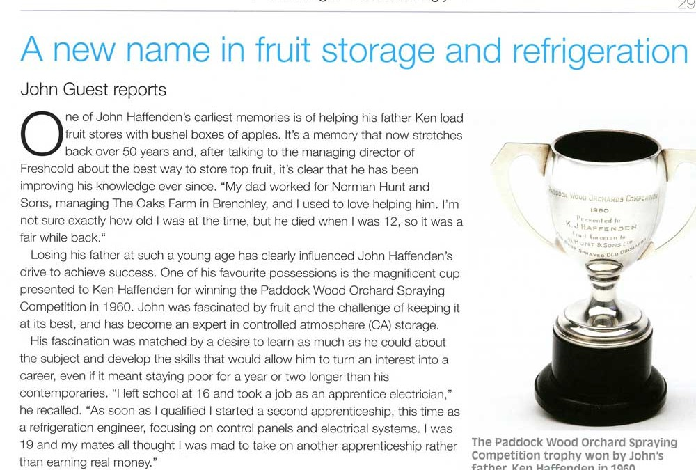 A new name in fruit storage and refridgeration